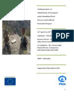 REPORT -ECHO - CFW Programme Training 16-18 April 2011