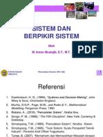 L.1. Sistem Dan Berpikir Sistem