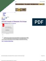 25 Fresh Examples of Minimalist Web Designs   Inspiration