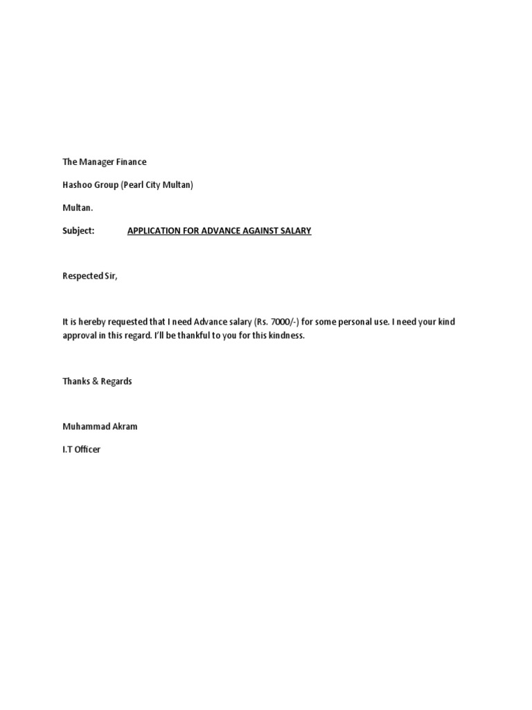 Salary negotiation letter is a formal archive composed by the application for advance salary altavistaventures Gallery