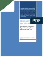 Evaluación Psicopedagógica Instrumento