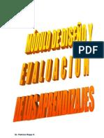 MODULO DISEÑO Y EVALUACION DE LOS APRENDIZAJES