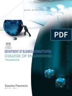 Cet Mba - Placement Brochure 2010