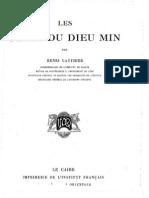 Gauthier, Les fêtes du dieu Min, 1931