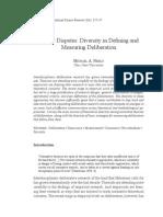 NebloFamily Disputes Diversity in Defining and Measuring Deliberation