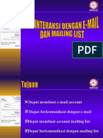 Berinteraksi Dg E-Mail Dan Milis