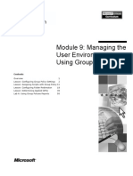 Module 9 Managing the User Environment by Using Group Policy