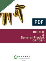 BOIKOT & Senarai Produk Gantian