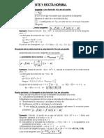 Ecuación de la recta tangente a una función  f