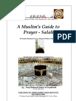 A Muslim Book of Prayer Salah | Hadith | Muhammad