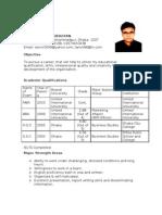 CV of Tanvir Hashem Bhuiyan