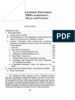 Compulsory Licensing Provisions Under the TRIPS Agreement by Sara M