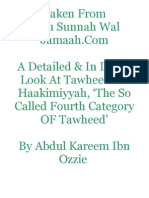 A Detailed & In Depth Look At Tawheed Al-Haakimiyyah, 'The So Called Fourth Category Of Tawheed'