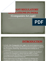 Company Regulatory Legislations in India