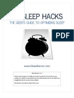 Sleep Hacks • The Geeks Guide to Optimizing Sleep