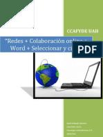 Redes + Colaboración online + Word + Seleccionar y citar