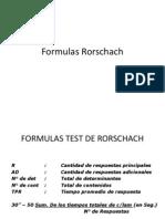 Formulas Rorschach