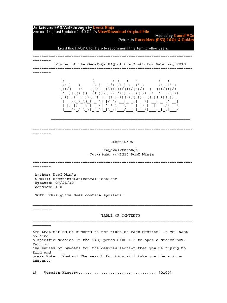 sc 1 st  Scribd & Darksiders | Bomb | Leisure