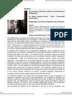 El Concepto de Filosofía y la Noción de Problema en Wittgenstein IMPRESO