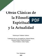 Obras cláscas de la Filosofía Espiritual y la Actualidad