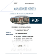 Procesos de Manufactura Problemas
