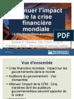 Attenuer l'impact de la crise financiere mondiale