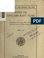 Notes on Anti-Aircraft-guns in WWI 1917