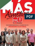 Programa electoral PSOE Almedina 2011