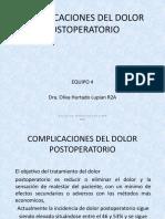 Complicaciones Del Dolor Post Opera to Rio