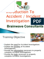 Accident Incident Investigation Training Material