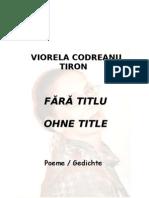 FĂRĂ TITLU- OHNE TITLE