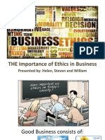 The Importance of Business Ethic