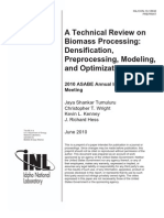 A Technical Review on Biomass Processing - Densification Pre Processing, Modeling, And Optimization 2010