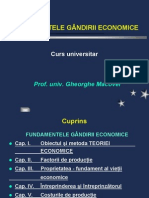 Fundamentele gandirii economiei