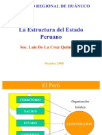 Diapositiva de La Estructura de Los Poderes Del Estado