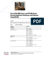 Cisco ASA 5500 Series and PIX 500 Series Security Appliance Hardware and Software Compatibility
