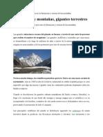 Ciencia La formación y erosión de las montañas