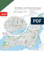Montreal's bike-path network, 2011