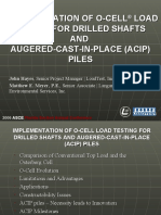 O-CELL® LOAD TESTING FOR DRILLED SHAFTS AND ACIP PILES