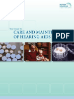 Care and Maintenance of Hearing Aids