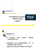Leccion1 (Introduccion a Oracle9i SQL)