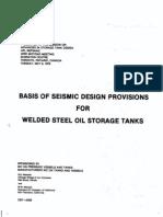 Basis of Seismic Design Oil Storage Tanks
