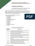 Funciones de Biblicoteca y Archivos de Cabecera