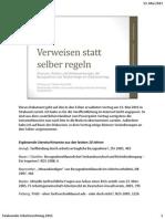 Anuschek, Verweisen Statt Selber Regeln (Foliensatz Mit Notizen Zum Vortrag, 2011-05)