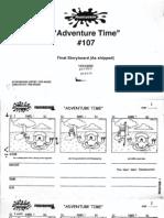"""Adventure Time"" original short storyboard"