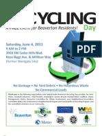 Beaverton Recycling Day