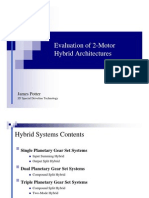 Evaluation of 2-Motor Hybrid Architectures
