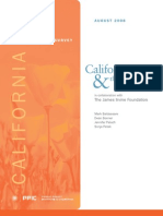 Californians and Their Government, a survey by the Public Policy Institute of California, AUG 2008