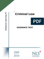 NTU_Criminal Law Guidance Text 2009-2010