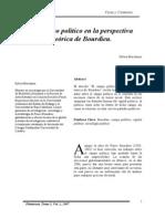 El campo político desde la perspectiva teórica de Bordieu
